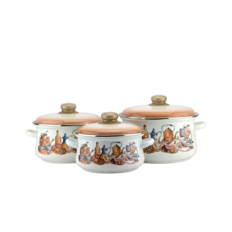 Набор кастрюль Эмаль, Посудка, 6 предметов