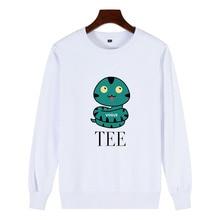 Comic Theme Print Fun snake New Women 100% Cotton Sweatshirt Full of Casual Cool Personality O Neck Women's Pullover