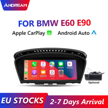 Andream-reproductor Multimedia con Android para coche, dispositivo Apple CarPlay de 8,8 pulgadas, para BMW E60, E63, E90, E92, unidad principal, cámara trasera, IOS, Iphone