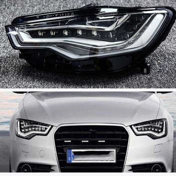For Audi A6L C7 2013-2015 lens Transparent shell Front headlights headlights glass lamp shade shell lamp cover transparent masks