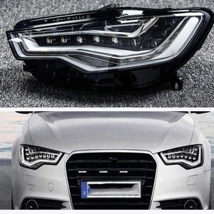 Image 5 - Trước đèn pha đèn pha đèn thủy tinh bóng vỏ đèn trong suốt khẩu trang Cho Xe Audi A6L C7 2013 2015