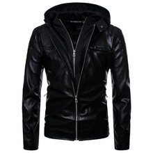 Leather Mens Jacket Hooded Locomotives Long-sleeved Clothes Motorcycle Jackets CoatsMens