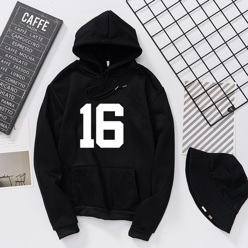 Teen Men And Women Fashion Hoodies Fall 16 Letter Printing Sweatshirt Loose Hip Hop Solid Color Simplicity Clothes Tops Hoodie