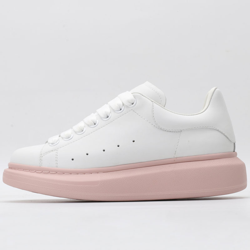 Pink ladies jogging <font><b>shoes</b></font> leather premium quality sneakers <font><b>shoes</b></font> men's brand casual fashion ladies sneakers 35-45 image