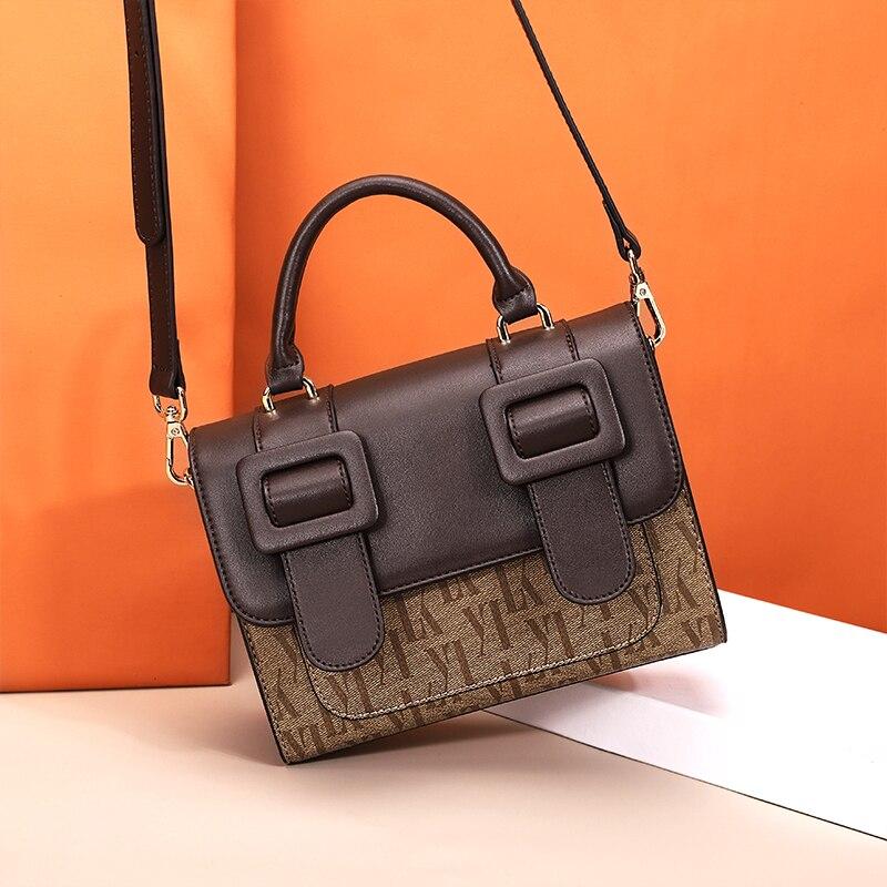 Mode européenne Vintage petit sac fourre-tout 2019 nouvelle qualité PU cuir sac à main Designer femmes Portable épaule Messenger sacs
