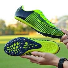 Обувь с шипами для занятий бегом и полем для мужчин и женщин; спортивная обувь; Профессиональная беговая Беговая беговая Обувь; мягкие кроссовки; Размеры 35-45
