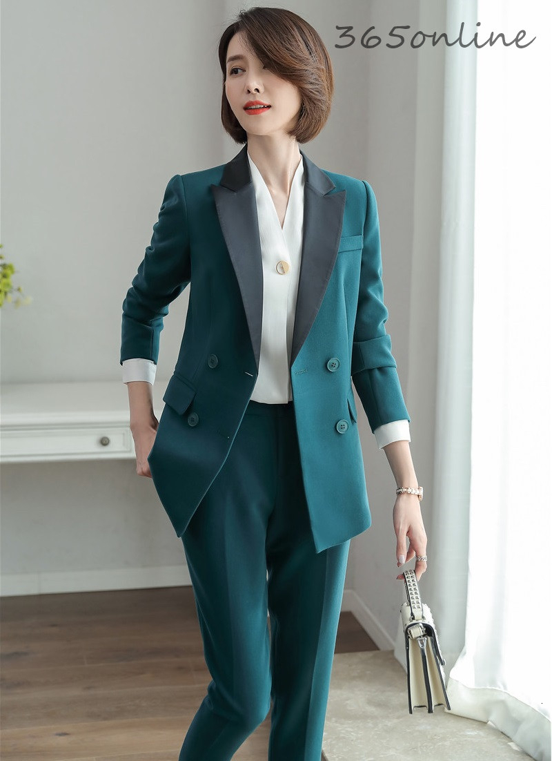 High Quality Fabric Formal Uniform Designs Pantsuits Business Work Wear Blazers Set Professional Ladies OL Styles Pants Suits