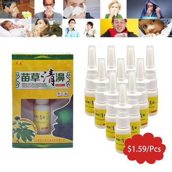 10Pcs/Lot Chinese Pure Natural Herbs Nasal Spray Treatment Rhinitis Sinusitis Allergy Rhinitis Spray Nose Care Health Tools 1