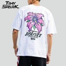 Erkek çiçek T shirt Harajuku çiçek baskı t shirt Hip Hop rahat kısa kollu T shirt erkekler Tops Tees pamuk Streetwear 2019 yeni