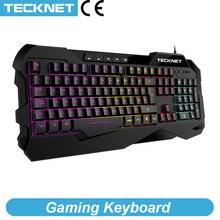 TeckNet Gaming Tastatur Mechanische Gefühl Anti geisterbilder Gaming Tastaturen Leuchtende Beleuchtete Englisch Layout tastatur für Gamer