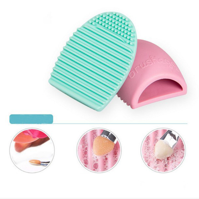 Makeup Brushes Cleaner Silicone Pad Mat Cosmetic Eyebrow Brush Cleaner Tool Brush Washing Tool Scrubber Board Brush Cleaning Pad 2