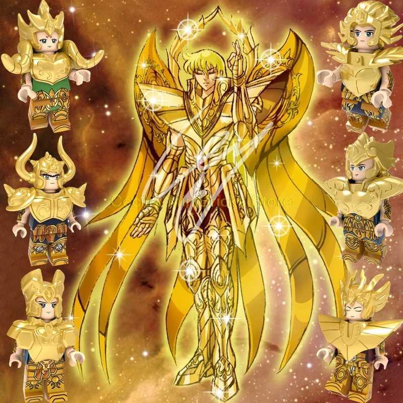 聖闘士星矢沙織木戸闘士星矢ガンダムザクのビルディングブロックのおもちゃ子供かわいいアニメ漫画フィギュアモデルテクニック