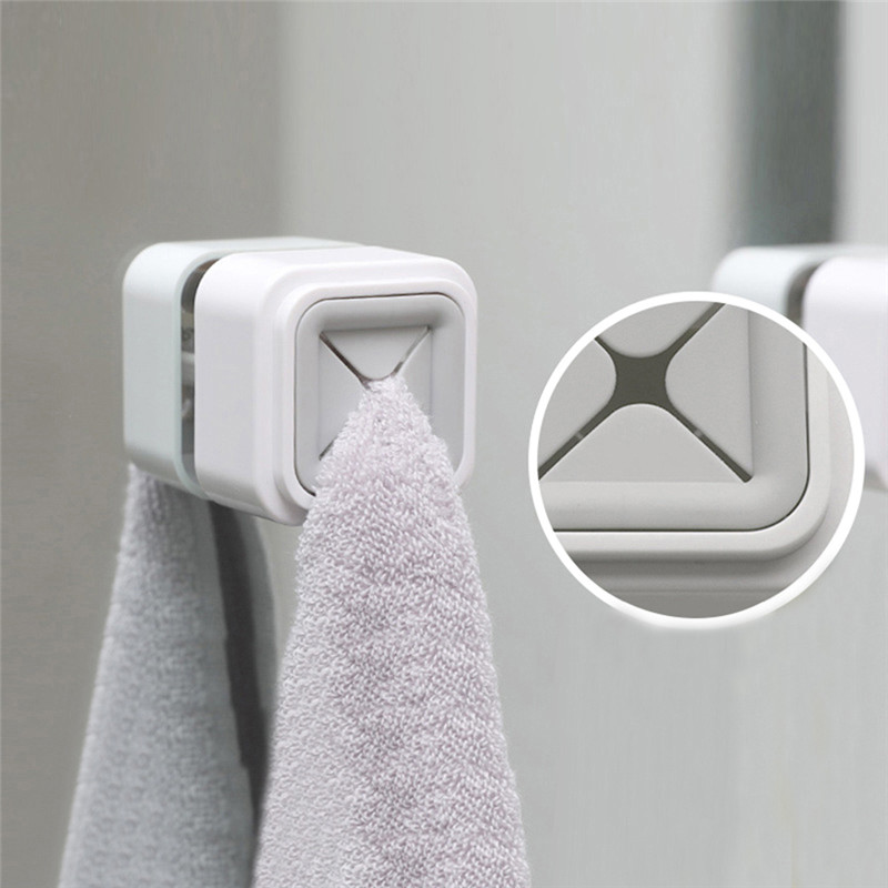 1PCS Towel Holder Sucker Wall Window Bathroom Tool Convenient Kitchen Storage Hooks Washing Cloth Hanger Rack New