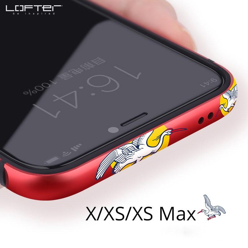Retro Do Telefone Do Metal No Vidro Traseiro para o iphone X Casos para iPhone XS Caso Max Guindaste Dos Desenhos Animados De Silicone De Alumínio Anti-knock tampa do quadro de Coque