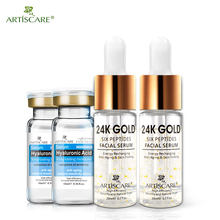 Artieffrayant Six Peptides sérum 24K or + acide hyaluronique sérum Anti-rides lifting raffermissant traitement ridules blanchissant 4 pièces(China)
