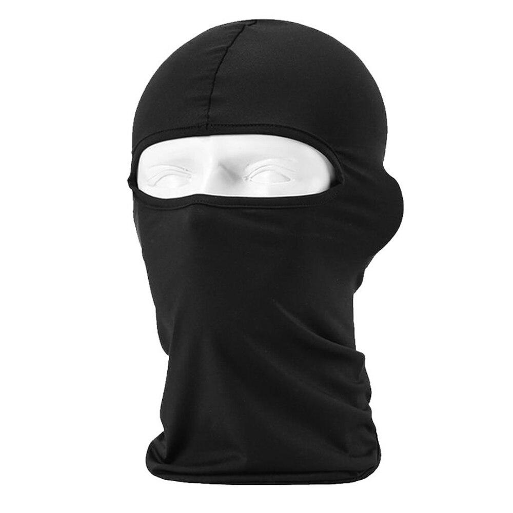 HEROBIKER мотоциклетная Балаклава маска для лица мото теплая ветрозащитная дышащая страйкбольная Пейнтбольная велосипедная Лыжная маска для лица мужской солнцезащитный шлем - Цвет: BF-Black