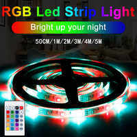 Cinta de tira de iluminación LED Flexible RGBW, lámpara de luz LED de TV, impermeable, rgb, iluminación trasera, inalámbrica, cc 5V
