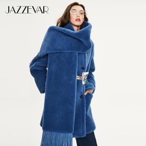 Image 3 - JAZZEVAR 2019 Зимнее новое поступление меховое пальто для женщин высокое качество средней длины модный теплое зимнее пальто
