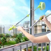 Çok fonksiyonlu U şekli teleskopik yüksek katlı pencere camı temizleyici toz yıkama fırçası pencere ayna temizleme aracı