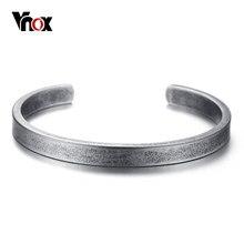 Vnox Vintage Viking Manschette Armbänder Armreifen für Männer Frauen Einfache Klassische Pulseras hombre Edelstahl Männlichen Schmuck