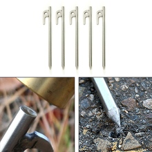 Outdoor Tent Nail Stake Peg Portable Stainless Steel Camping Tool