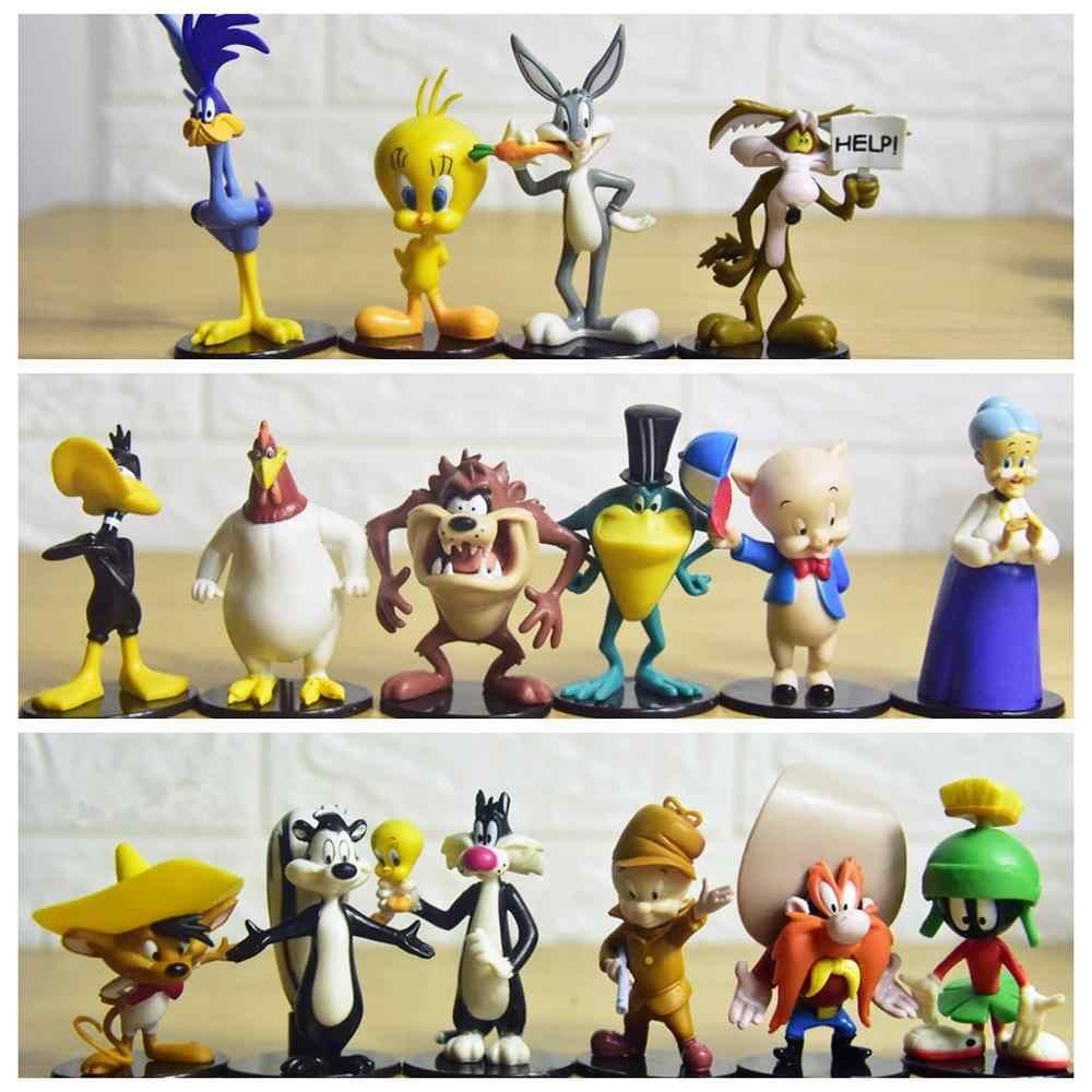 Catoon Looney Tunes Small Figures Tweety Bird Foghorn Leghorn Bugs Tasmanian Devil Daffy Duck Sylvester Action Figure Model Doll Aliexpress