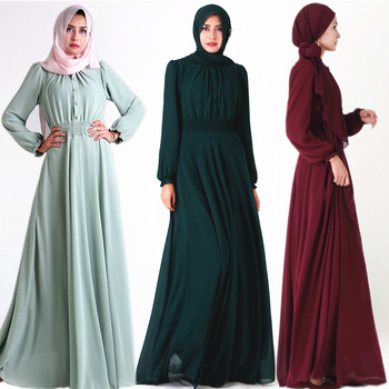 Kaftan Abaya Dubai Arabic Islam Turkey Long Hijab Muslim Dress