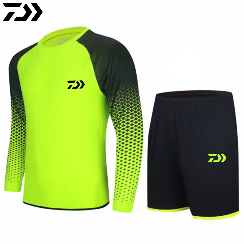 Summer Sports Suit Fishing Clothing Breathable Fitness Outdoor Fishing Tshirt And Shorts Set Running Cycling Clothes