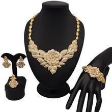 Nowy projekt zestawy biżuterii dla afrykańskich kobiet moda zestawy biżuterii złocenie zestawy biżuterii dla nowożeńców afrykańskie koraliki zestaw biżuterii tanie tanio SexeMara Zinc Alloy Copper Alloy Kobiety Acrylic Naszyjnik kolczyki bransoletka Klasyczny Party cj636 Face necklace earring ring Bracelet
