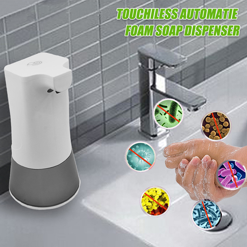 350ml Intelligent Automatic Liquid Soap Dispenser Induction Hydroalcoholic Gel Foaming Hand Washing Device For Kitchen Bathroom