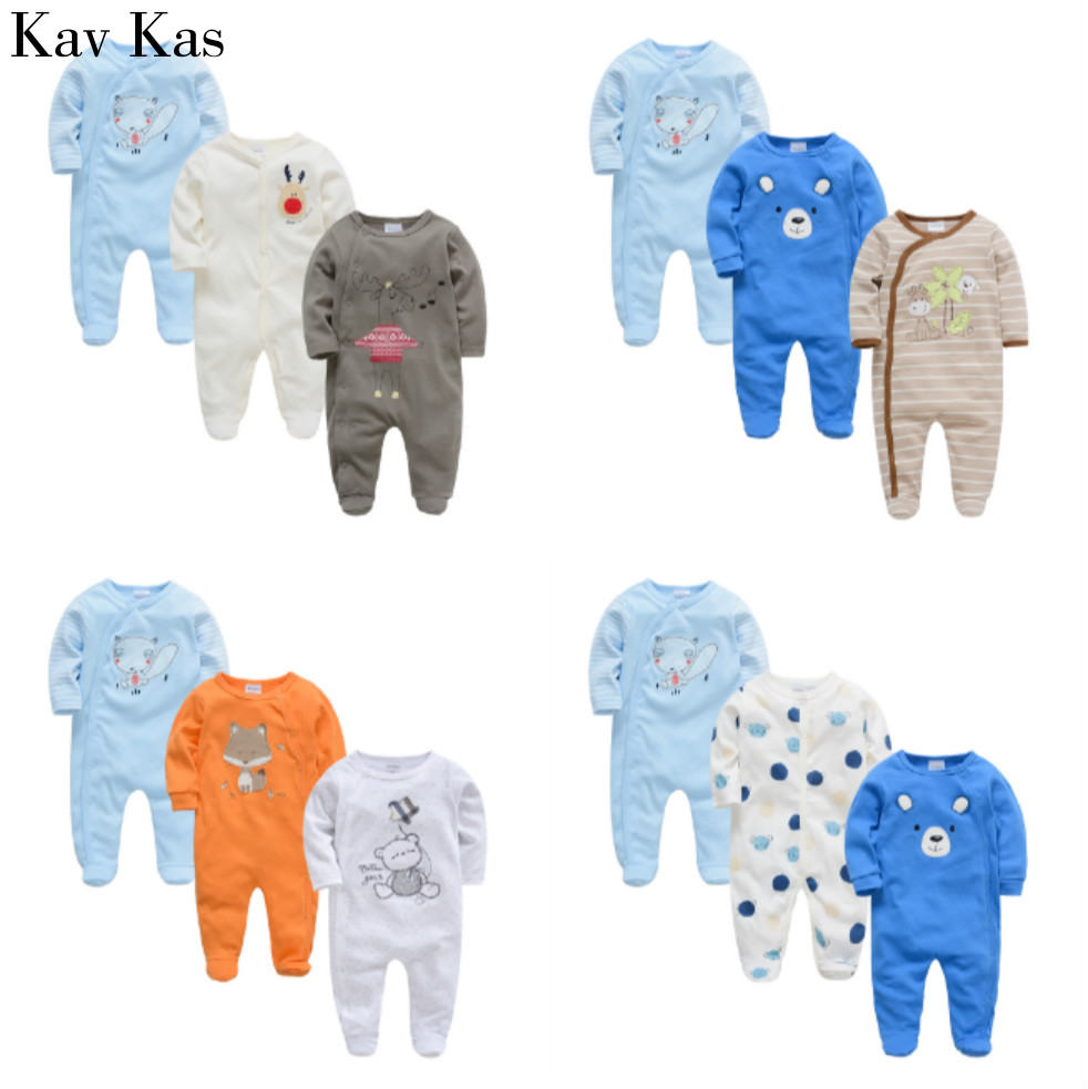 KavKaz Baby Coral Fleece Long Sleeve Jumpsuit Newborn Boy And Girl Romper Cute Baby