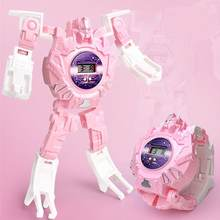 Детские электронные наручные часы робот трансформер 203e