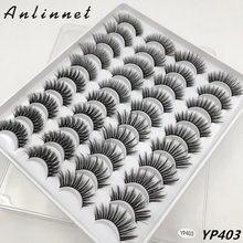 20 пар макияж Накладные ресницы 15 мм натуральные 3d накладные