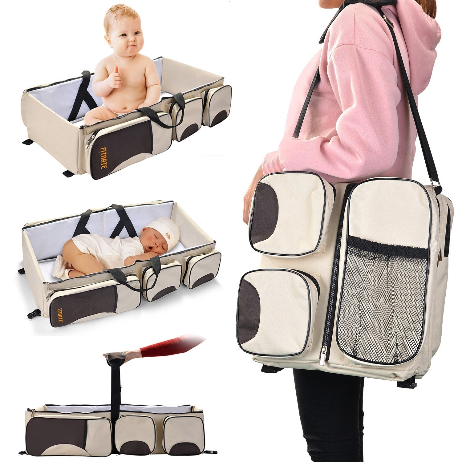 3 In 1 Portable Changing Bag Multi-function Baby Diaper Bag For Stroller Waterproof Travel Infant Baby Changing Bag
