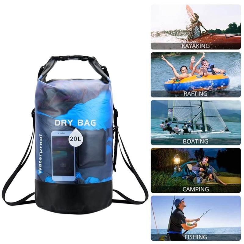 10/20L Waterproof Dry Bag Pack Swimming Rafting Kayaking River Trekking Floating Sailing Boating Storage Backpack