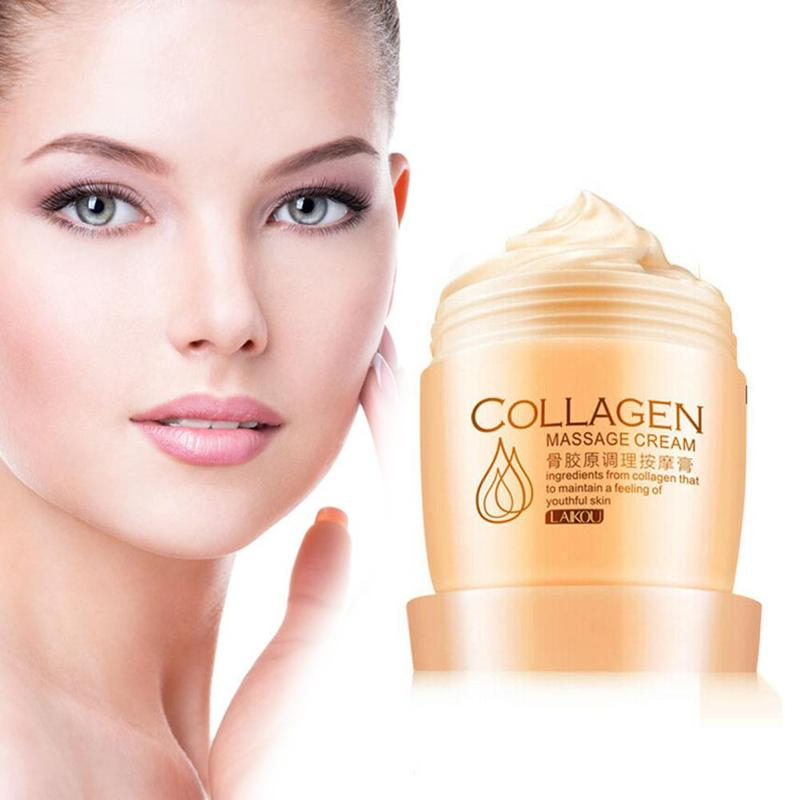 80ml Collagen Massage Whitening Cream Exfoliate Deep Pore Cleansing Firming Oil Control Facial Massage Cream Skin Care