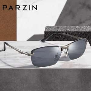 Image 3 - PARZIN חדש גברים של Photochromic מקוטב משקפי שמש באיכות גבוהה מתכת מחצית מסגרת אופנה נגד בוהק משקפיים נהיגה משקפי שמש