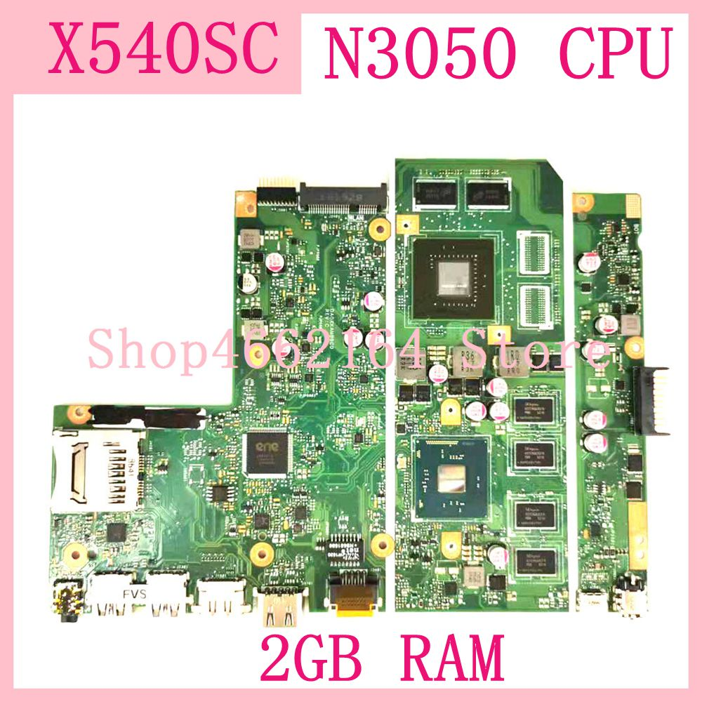 X540SC MB._2G/N3050 CPU /AS <font><b>Motherboard</b></font> REV:2.0 For <font><b>ASUS</b></font> <font><b>X540</b></font> X540S X540SC Laptop Mainboard N15V-GL1-KA-A2 2GB RAM 100% Tested image