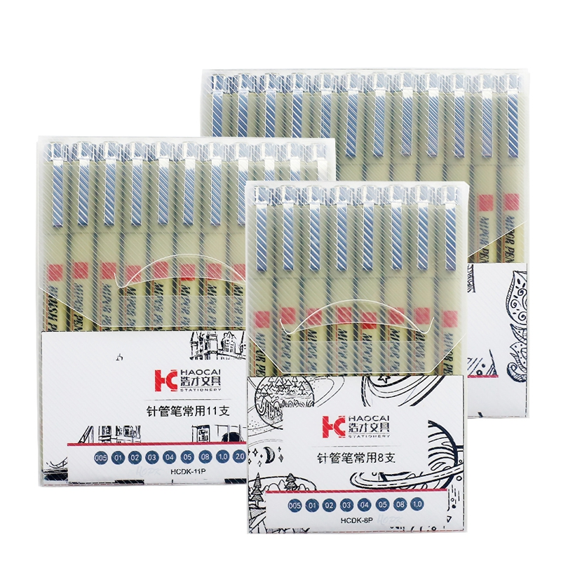 Pigment Liner Micron Pen Set Neelde Drawing Pen lot 005 01 02 03 04 05 08 1.0 Brush Art Markers Fineliner Sketching Pen