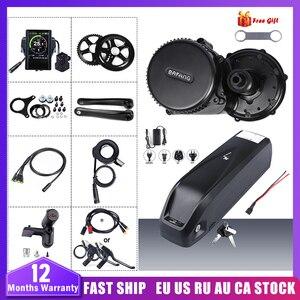Image 1 - 48V 750W Bafang BBS02B אמצע כונן מנוע המרת ערכת מנוע עם סוללה KitLock 12AH/17.5Ah סמסונג סלולרי אופניים סוללה