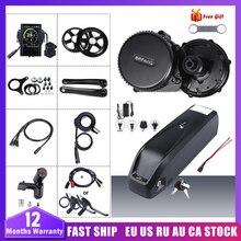 48V 750W Bafang BBS02B Mid Drive Motor Conversie Kit Motor Met Batterij Kitlock 12AH/17.5Ah Samsung Mobiele fiets Batterij