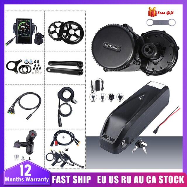 Bafang Kit de conversión de Motor de tracción media BBS02B de 48V y 750W con batería, KitLock, batería de bicicleta Samsung de 12AH/17,5ah