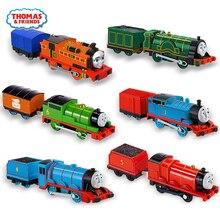 الأصلي الكهربائية توماس والأصدقاء 1:43 دييكاست المسار ماستر القطارات موتور طراز سيارة من المعدن بطارية المواد الاطفال لعبة Brinquedo