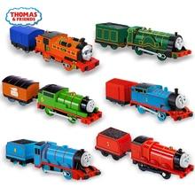 Thomas et ses amis électriques, piste électrique 1:43 dicast, train maître, modèle de voiture en métal, batterie, jouet pour enfants Brinquedo