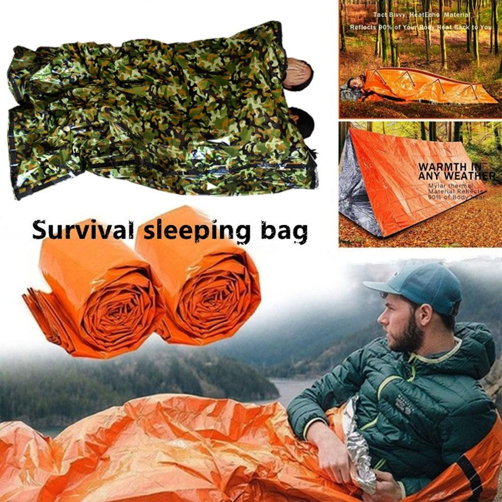 Outdoor Emergency Thermique Imperméable Sac De Couchage Camping survie bivouac Sack