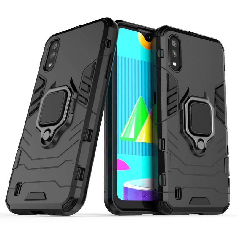Funda de teléfono a prueba de golpes para Samsung Galaxy J4 J6 Plus J2 Pro 2018, funda protectora de anillo para Samsung A7 A8 A9 2018 Plus 1
