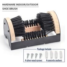 Boot Scrubber Cleaner szczotka do butów-do montażu bufor do szorowania butów butów trampek-skrobak do butów wewnętrznych zewnętrznych tanie tanio Drewna 0113 Plastikowe włosy Z tworzywa sztucznego Iron