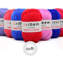 High Quality Warm DIY Milk Cotton Yarn Baby Wool Yarn for Knitting Children Hand Knitted Yarn Knit Blanket Crochet Yarn(China)