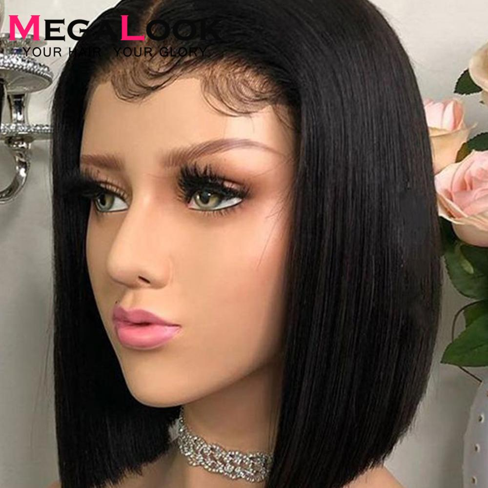 Straight Lace Front Wig Lace Wig Bob Wig 13x4 Pre Plucked Brazalian Remy 150% Lace Closure Wig  Lace Front Wigs Bob Short Wig