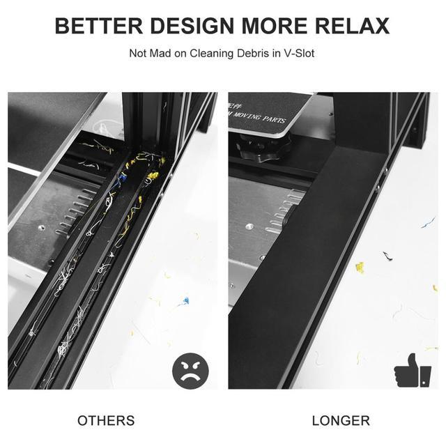 LONGER LK4 3D Printer Touch Screen 3D Print with Unique Frame Design Resume Printing Safe Power Supply 3D Printer Kit 2